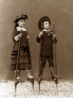 Children on stilts, 1890 , Alinari Archives