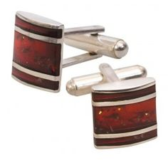 Natural Amber Cuff Links