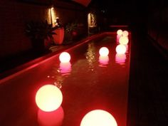 Floating LED Pool Light Moonlight Medium 40cm $149 www.poolshopdirect.com.au  Low voltage LED Lights 15 colour choices including white. Flash, strobe, fade & static operation. Three stages of dimming. Long lasting lithium battery; Lasting an average of 15 hours. With 2. 2 to 5 hour charging time. Inductive and direct fill charging. All models are weatherproof.