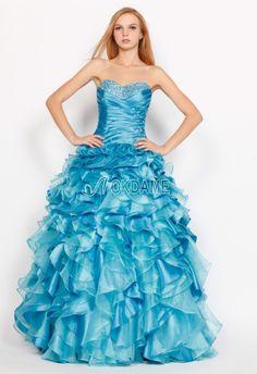Ärmelloses tiefe Taile sittsames Sternenhimmel romantisches Quinceanera Kleid