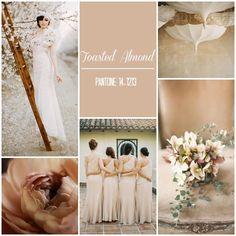 O casamento rústico clássico é cercado de tons terrosos e pastéis. E o Toasted Almond, da palheta de cores de 2015 da Pantone, é perfeito para o estilo!
