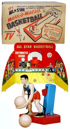 Marx, All-Star Marx-O-Matic Basketball (Factory Sample)