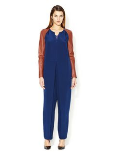 In the all black version yes. In blue, it'd look too onesie on me ;) Leather Sleeve Silk Jumpsuit by 3.1  Phillip Lim on @Gilt