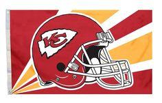 Kansas City Chiefs Flag Flag 3x5 Helmet