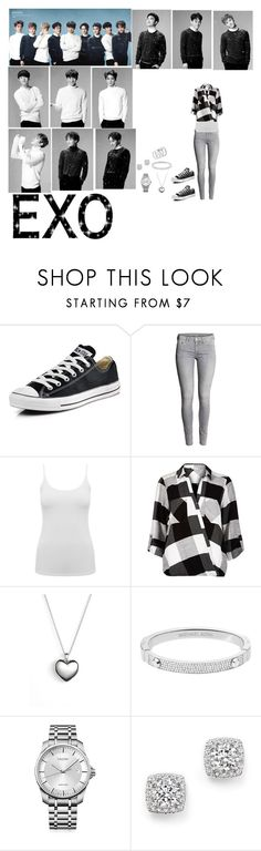 """""""Exo - Unfair"""" by tkyle134 ❤ liked on Polyvore featuring beauty, Converse, M&Co, River Island, Pandora, Michael Kors, Calvin Klein, Bloomingdale's and Vince Camuto"""