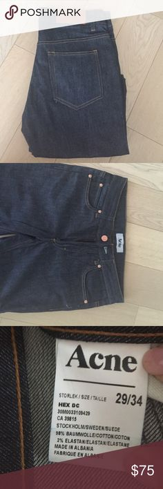 Navy Raw Acne Hex Jeans Brand new Acne Jeans Hex (skinny) Model Size 29/34 in Navy Raw Acne Jeans Skinny