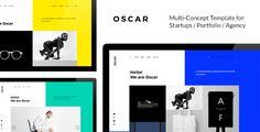 cool OSCAR - Recent Multi Idea Template for Startups / Portfolio / Company /  Trendy Enterprise Web sites (Artistic)