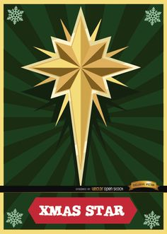 Big Christmas star above a background of green radial stripes. It's perfect for using in cards sending Christmas wishes. Our team wishes you the best Christmas with your loved ones. High quality JPG included. Under Commons 4.0. Attribution License.