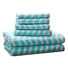 Grey Chevron and Aqua towel set set of 2 hand towel aqua