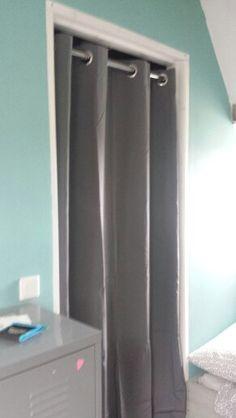 Gordijn ipv deur voor cv hok