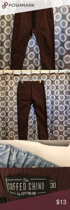 Nice pair of pants for teenage boy or young man Brand new never used beautiful color cuffed chino Pants