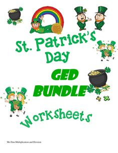 You can't beat this bundle of math goodies at bargain basement price for St. Patrick's Day.