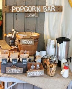 Our Favorite DIY Wedding Popcorn Bars