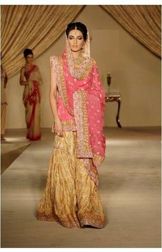 Gharara commonly worn by Muslims originally. Popular in India and Pakistan