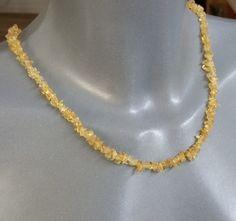 Vintage Halsschmuck - Halskette Citrin Verschluss vergoldet Shabby MK127 - ein Designerstück von Atelier-Regina bei DaWanda