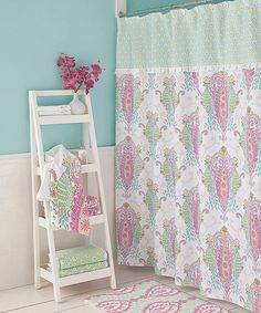 Look at this Peacock Shower Curtain on #zulily today!