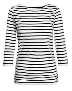 Breton Top in White/Black