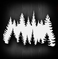 Treeline Airbrush Stencil Template Airsick | eBay