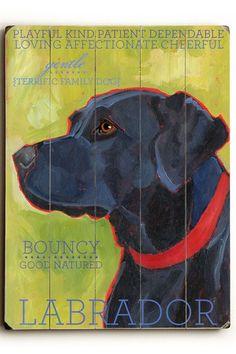 Black Labrador by Pet Art Shop on @HauteLook
