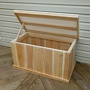 Deck Box With Waterproof Lid Wood Storage Box Pallet Furniture