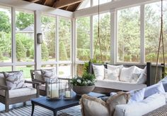 Beautiful Southern Porches - Julie Couch Interiors, Nashville shares a TOP Outdoor Rooms, Outdoor Living, Outdoor Furniture Sets, Sunroom Furniture, Modern Furniture, Furniture Design, Southern Porches, Southern Living, Country Porches