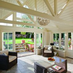 Timber garden room | Country conservatory ideas | Conservatory | PHOTO GALLERY | Country Homes and Interiors | Housetohome.co.uk