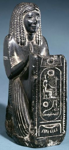 Black steatite statue of Meryptah. 19th dynasty. | The British Museum