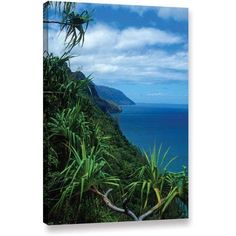ArtWall Kathy Yates Kalulua Trail Kauai Gallery-Wrapped Canvas, Size: 16 x 24, Blue