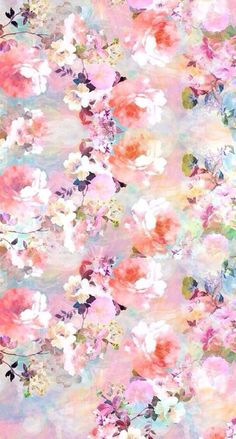 iPhone size wallpaper of a watercolor floral background. Photo creds goes to the owner of the wallpaper. Painting Wallpaper, Cool Wallpaper, Pattern Wallpaper, Wallpaper Canada, Spring Wallpaper, Beautiful Wallpaper, Mobile Wallpaper, Beautiful Images, Wallpaper Para Iphone 6