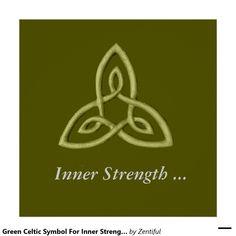 Green Celtic Symbol For Inner Strength Poster