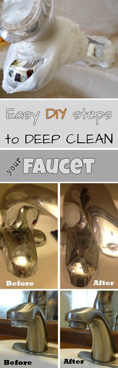 Read directions about how to deep clean your faucet.