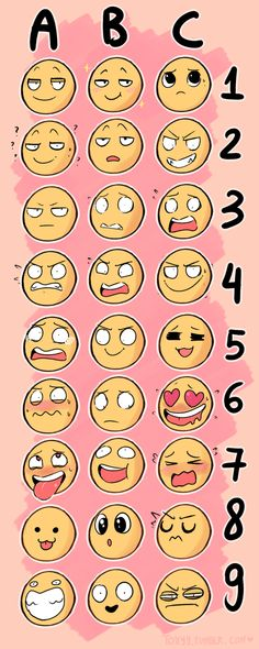emoji | Tumblr >>> I just recently got super sick but put in an Animal and Facial Expression number below and I'll try and draw it (Favorite Meme Guys)