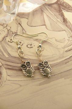 Cute Tibetan Silver Owl Earrings