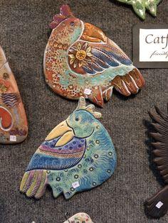 Birds by Barbara Haddad, Catfish Corner Holiday Market, Catfish, Gift Guide, Corner, Clay, Lovers, Birds, Marketing, Animal