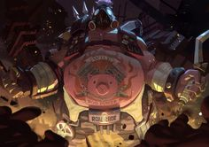 Overwatch Roadhog (Mako Rutledge) fanart by nesskain on Tumblr