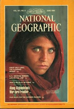 "National Geographic has its fair share of affecting, enduring covers, like ""Afghan Girl,"" arguably the publication's most famous image. For its June 2018 cover and part of its ""Planet or Plastic?"" initiative, the magazine published a cover. National Geographic Cover, National Geographic Videos, National Geographic Photography, Steve Mccurry, Richard Avedon, Afghan Girl, Afghanistan War, Reportage Photo, Old Ads"