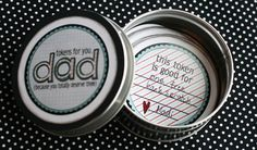 token tin 21 Do it yourself with love this Fathers Day