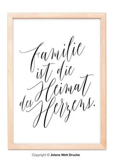 Tattoo Ideen Frauen – Familie Ist Die Heimat … von Jolanswelt Kunstdrucke Tattoo Ideas Women – Family Is The Home … by Jolanswelt Art Prints Inspirational Life Lessons, Inspirational Quotes, Short Family Quotes, Blessed Family, Great Tattoos, Funny Love, Hand Lettering, Brush Lettering, Funny Quotes