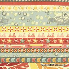 Fabric... Salt Air Summer Borders by Cosmo Cricket