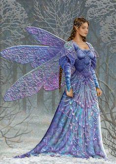 Fairies, Sprites, and such Magical Creatures, Fantasy Creatures, Woodland Creatures, Fantasy World, Fantasy Art, Fantasy Fairies, Fairy Dust, Fairy Tales, Snow Fairy