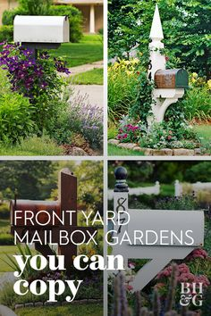 The post your mailbox sits on is the perfect place to grow a small vine such as clematis. Mailbox Plants, Mailbox Garden, Mailbox Landscaping, Garden Landscaping, Landscaping Ideas, Mailbox Flowers, Preformed Pond Liner, Garden Shed Interiors, Greenhouse Gardening