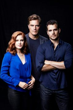 Amy Adams, Michael Shannon, and Henry Cavill 'Man of Steel' 2013