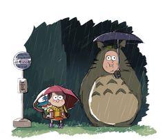 Gravity Falls vs Totoro