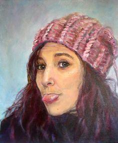 Portret door Lida Meines. Korte schildercursussen in Amersfoort Art Drawings, Crochet Hats, Face, Painting, Prints, Beautiful, Portraits, Illustrations, Kunst