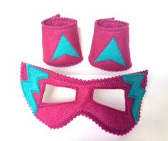 Check out this item in my Etsy shop https://www.etsy.com/uk/listing/223483729/magenta-and-teal-superhero-mask-and