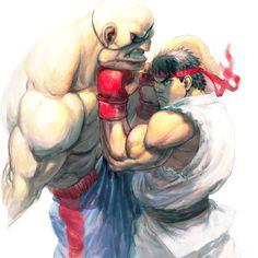 Ryu VS Sagat. Street Fighter