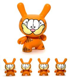 "Who ate all the Lasagna?!?! Custom ""Garfield"" Kidrobot Dunny by WuzOne!"