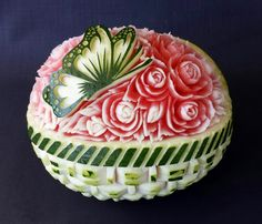princess themed fruit and vegetable carvings | Demonstration - Carve It Fruit Art