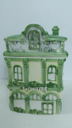 Vintage Victorian Style Post Office Cookie Jar