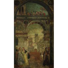 Fresco - A Tournament at Brescia  painted 1511 by Ferramola, Floriano (b 1475 d 1528)  Fresco transrerred to canvas.